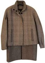 MSGM Grey Wool Coats