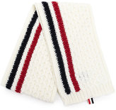 Thom Browne knitted striped scarf