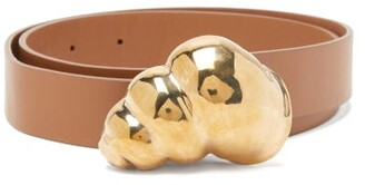 Gabriela Hearst Aphrodite Shell-buckle Leather Belt - Womens - Brown