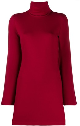 Sara Battaglia Turtleneck Jumper Dress