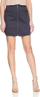 BCBGMAXAZRIA Women's Jania Cotton Zip Front Mini Skirt