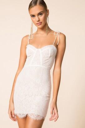 superdown Lottie Lace Bustier Dress
