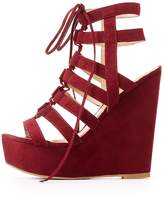 Charlotte Russe Caged Lace-Up Platform Sandals