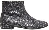 Miss Blumarine Glittered Leather Ankle Boots