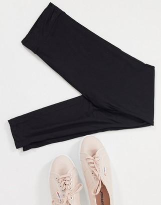 Topshop high waisted leggings in black