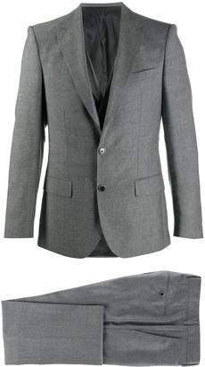 HUGO BOSS Three-Piece Woven Twill Suit