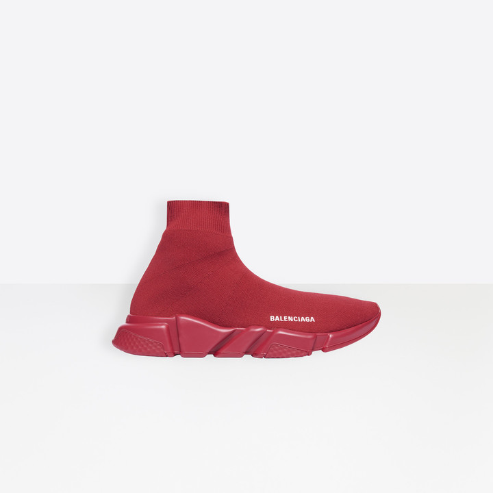Balenciaga Stretch knit trainer with tone-on-tone textured sole