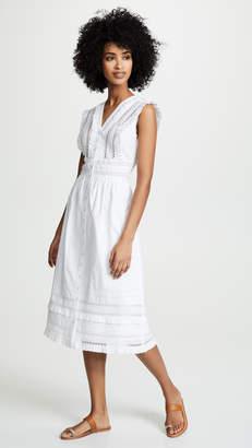 Sea Lilli Eyelet Sleeveless Midi Dress
