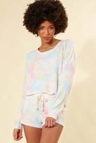 PJ Salvage Rainbow Tie Dye Sweatshirt Multi XS