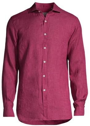 Canali Woven Linen Shirt