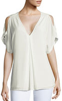 MICHAEL Michael Kors Crepe Cold-Shoulder Blouse