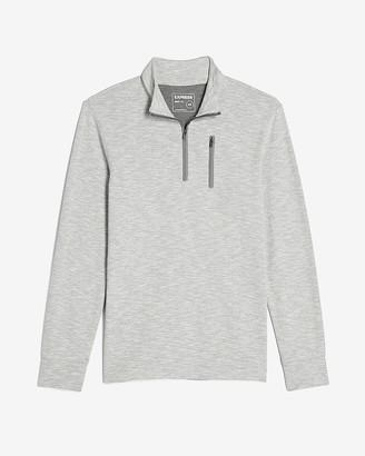 Express Herringbone Quarter Zip Sweatshirt