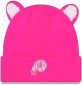 New Era Girls Toddler Pink Washington Redskins Cozy Cutie Cuffed Knit Hat