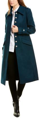 AVEC LES FILLES Wool-Blend Military Coat