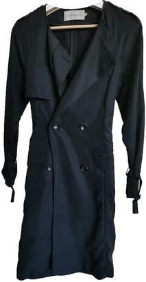 Calvin Klein Black Cotton Trench Coat for Women
