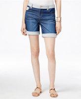 INC International Concepts Cuffed Indigo Wash Denim Shorts, Only at Macy's