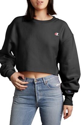 Champion Crop Reverse Weave Sweatshirt