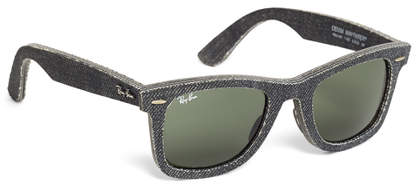 Brooks Brothers Ray-Ban Wayfarer Black Denim Sunglasses