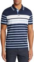 BOSS GREEN Paule Striped Slim Fit Polo Shirt