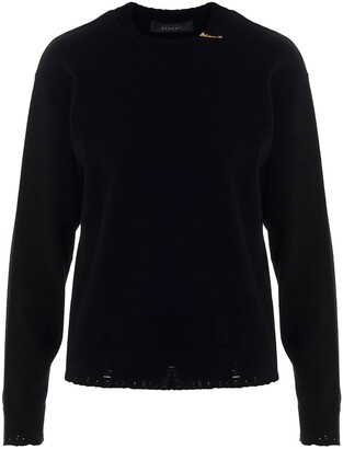 Versace Safety-Pin Detailed Knit Jumper