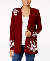 Charter Club Printed Jacquard Cardigan, Created for Macy's