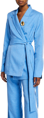 Maggie Marilyn Just Getting Started Wrap Blazer with Brooch