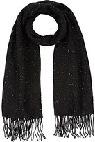 Barneys New York WOMEN'S SPECKLED-KNIT BLANKET SCARF
