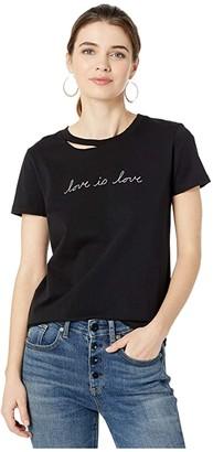 n:philanthropy Harlow BFF Love is Love Graphic Tee (Black Cat) Women's Clothing