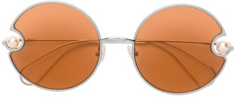 Christopher Kane Eyewear Round Shaped Sunglasses
