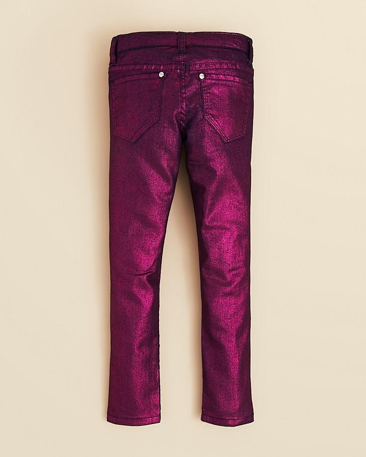 Aqua Girls' Metallic Jeans - Sizes 4-6X