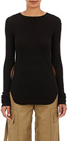 Helmut Lang Women's Rib-Knit Long-Sleeve T-Shirt-BLACK