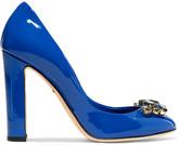 Dolce & Gabbana Embellished patent-leather pumps