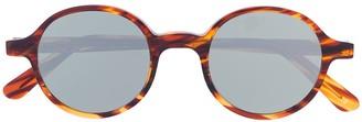 L.G.R Round Frame Tortoise Shell Sunglasses