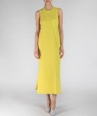 Atm Sleeveless Pocket Tee Maxi Dress - Canary