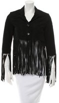 Maje Suede Fringed Jacket