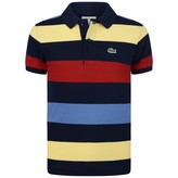 Lacoste LacosteBoys Navy Multi Striped Polo Top