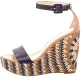 Alexandre Birman Python Wedge Sandals