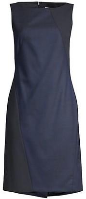 HUGO BOSS Dipatch Virgin Wool-Blend Sheath Dress