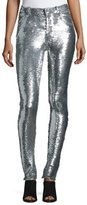 IRO Onen Skinny Sequined Pants, Silver