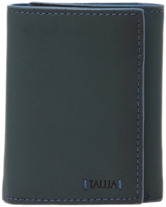 Tallia Trifold Leather Wallet with Colored Edges