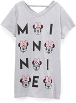 Freeze Minnie Mouse Heather Gray 'MINNIE' Cutout V-Neck Tee - Girls
