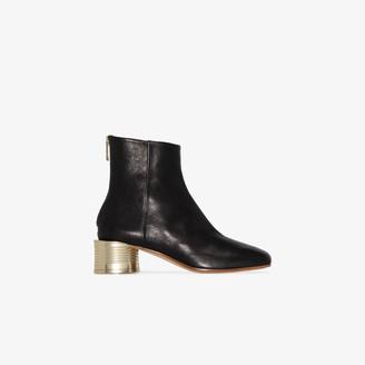 MM6 MAISON MARGIELA Black 50 Leather Ankle Boots