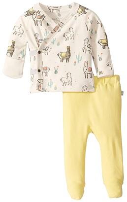 finn + emma Llama Kimono and Pants Set (Infant) (Llama) Kid's Active Sets