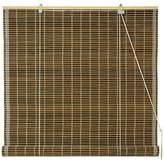 Oriental Furniture Burnt Bamboo Roll Up Window Blinds, Dark Olive