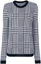 Balmain Prince of Wales checked jumper - women - Viscose - 36