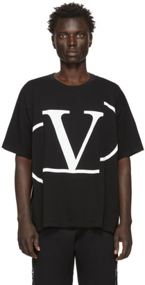 Valentino Black Deconstructed VLogo T-Shirt