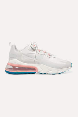 Nike Air Max 270 React Neoprene And Faux Leather Sneakers - White