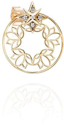 Perle de Lune Lotus Ear-Back & Star Earrings