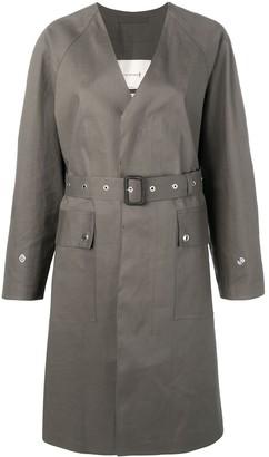 MACKINTOSH Taupe Bonded Cotton V-Neck Coat LR-096