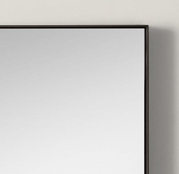 Restoration Hardware Custom Metal Mirror Floating